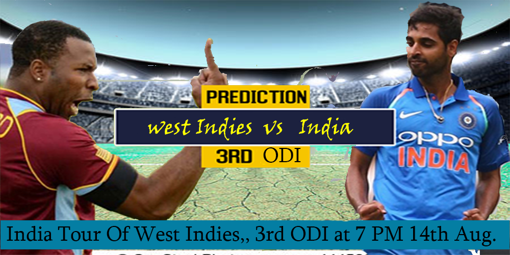 India vs West Indies 3rd ODI 2019